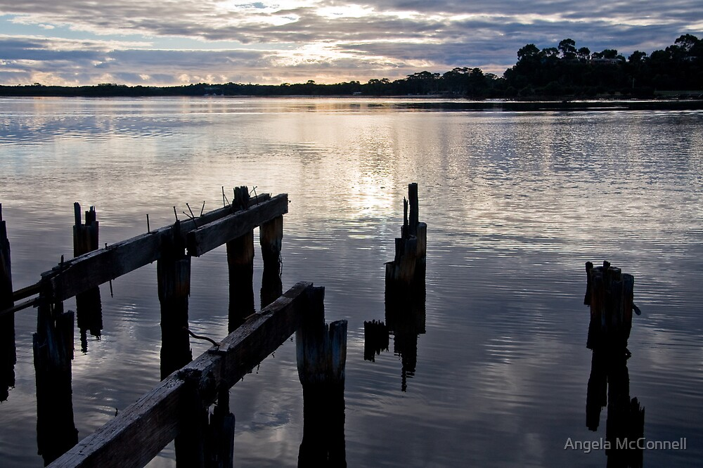 The Old Pier, Strahan, Tasmania by Angela McConnell