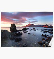 Elgol Sunset . Loch Scavaig. Isle of Skye. Scotland. Poster