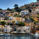 Yachts in Symi by Tom Gomez