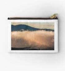 huge cloud in morning light over the valley Studio Pouch