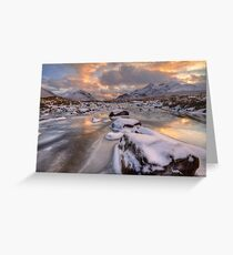Sligachan at Christmas. Isle of Skye. Scotland. Greeting Card