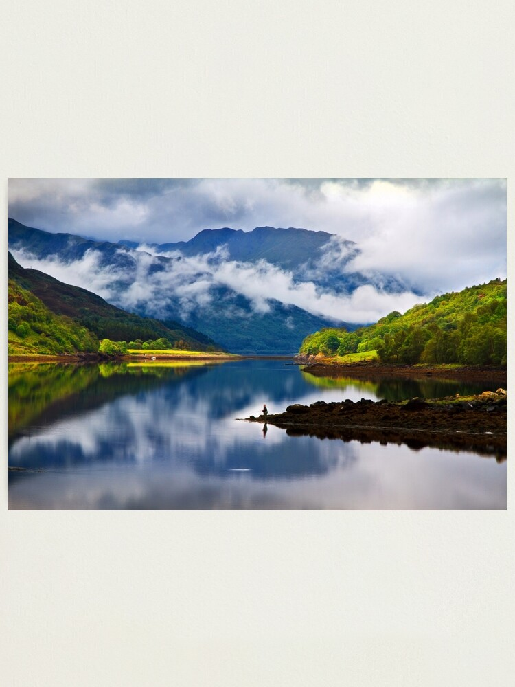 Alternate view of Loch Leven Reflections. North West Highlands. Scotland. Photographic Print