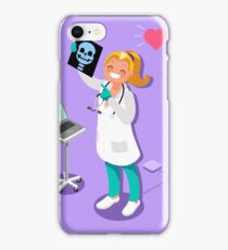 Medical Doctor Radiology Icon Isometric People Cartoon iPhone Case/Skin