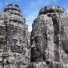 The Bayon - Angkor Thom by Maureen Brittain