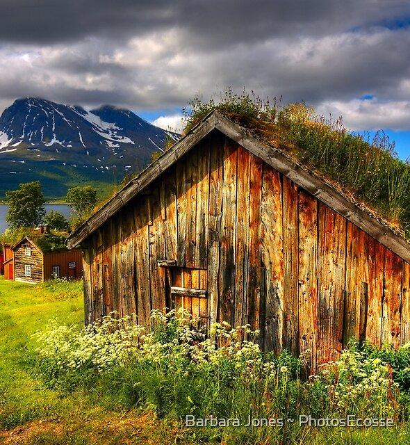 Traditional Houses at Hella, Kvaloy. Tromso, North Norway. by Barbara  Jones ~ PhotosEcosse