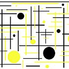 Yellow And Black Abstract by KirtTisdale