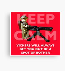 Keep Calm... Canvas Print