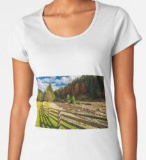 forest river near the road and camping place Premium Scoop T-Shirt