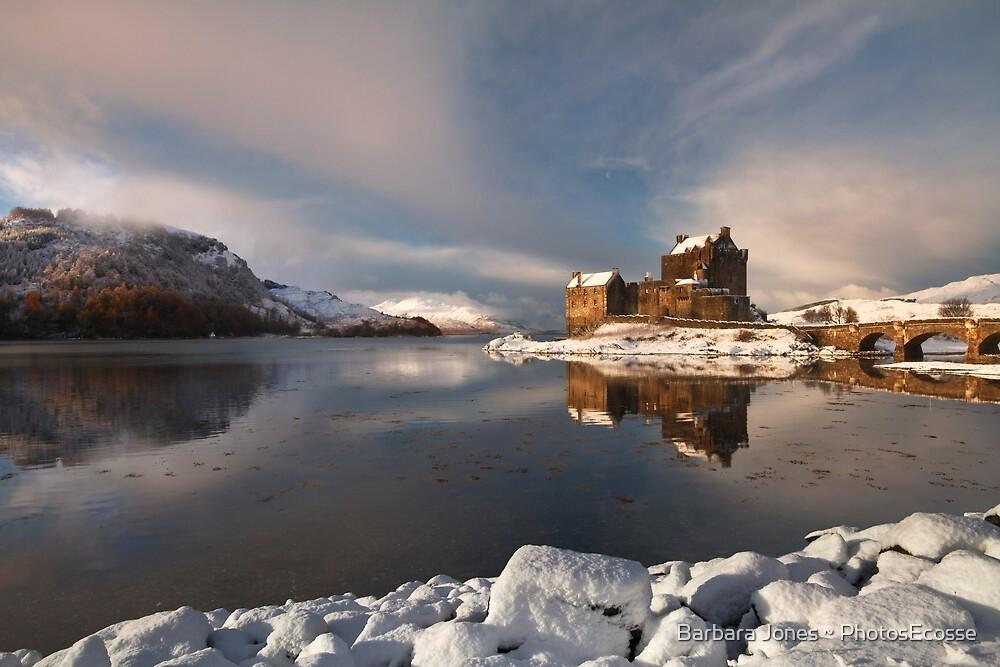 Eilean Donan Castle in Winter, Loch Duich, Scotland. by Barbara  Jones ~ PhotosEcosse