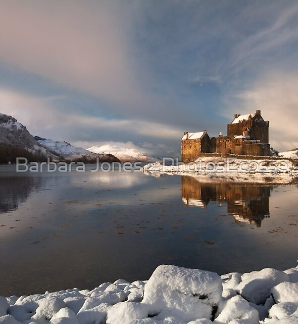Eilean Donan Castle in Winter, Loch Duich, Scotland. by Barbara  Jones ~ PhotosEcosse