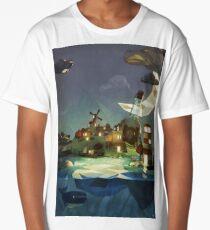 Fantasy Island at Nightime Long T-Shirt