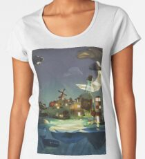 Fantasy Island at Nightime Women's Premium T-Shirt