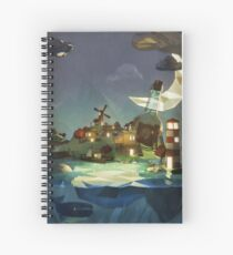 Fantasy Island at Nightime Spiral Notebook