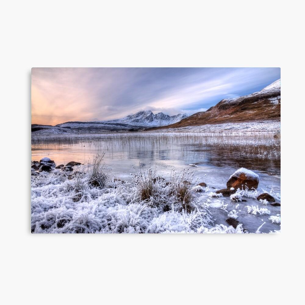 Blaven im Winterlicht, Isle of Skye. Schottland. Leinwanddruck