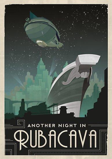 Grim Fandango Reise Poster - Rubacava von dmackenzie