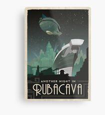 Grim Fandango Reise Poster - Rubacava Metallbild