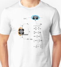 Newton's 2nd Law of Motion with POrtals T-Shirt