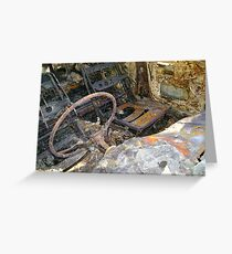 Burnt Out Car Greeting Card