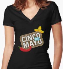 Cinco de Mayo festival T-shirt Women's Fitted V-Neck T-Shirt
