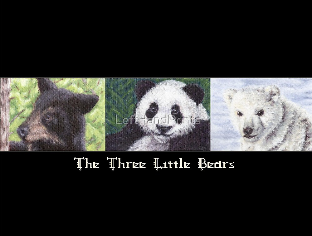 The Three Little Bears by LeftHandPrints