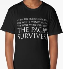 "Game of Thrones® - ""The Pack Survives"" Quote T-Shirt & Memorabilia Long T-Shirt"