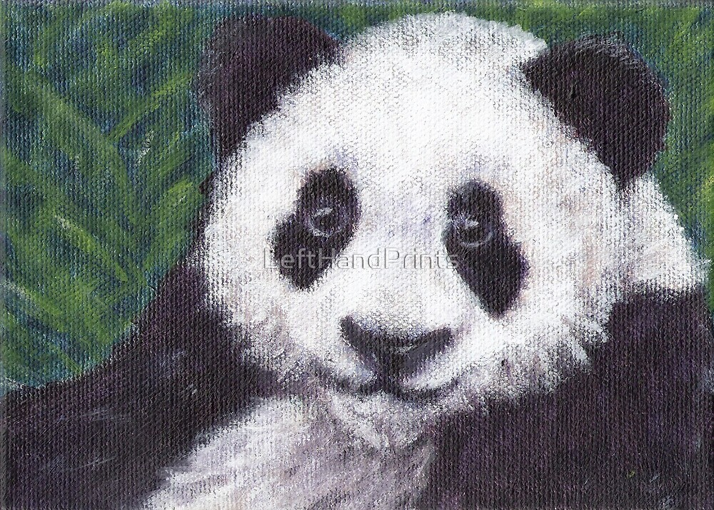 Baby Panda by LeftHandPrints