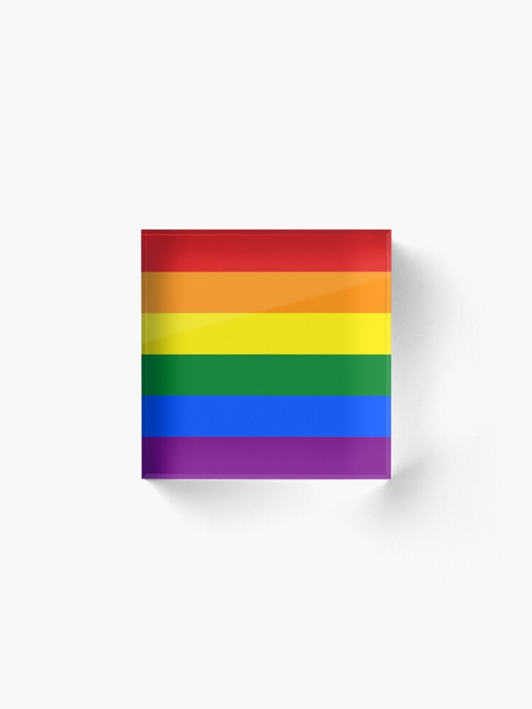 Alternate view of Rainbow Flag Gifts & Products Acrylic Block