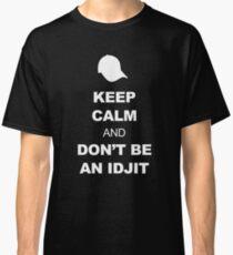 Supernatural Keep Calm Parody (Bobby) Classic T-Shirt