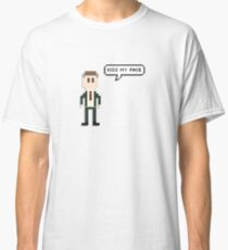 Alan Partridge 8-Bit Kiss My Face Quote Merchandise  Classic T-Shirt