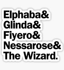 Wicked Characters | Black Sticker