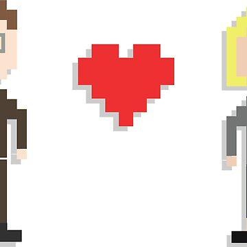 8-Bit Dwight Schrute & Angela Martin | The Office U.S Merchandise by tellytee