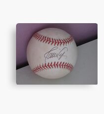 signed ball Canvas Print
