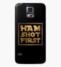 Schinken Schuss zuerst - Gold Hülle & Skin für Samsung Galaxy