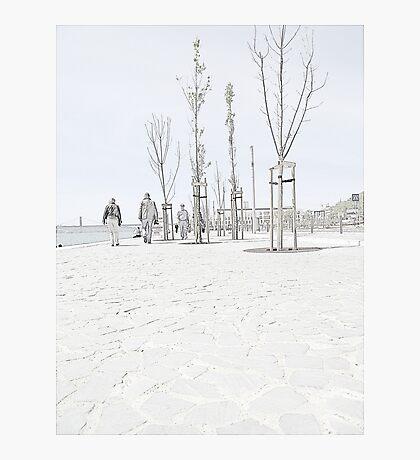 Riverside Walking Photographic Print