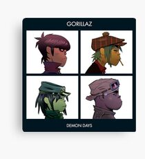 GORILLAZ DEMON DAYS ALBUM ARTWORK (Jamie Hewlett) Canvas Print
