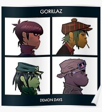 GORILLAZ DEMON DAYS ALBUM ARTWORK (Jamie Hewlett) Poster