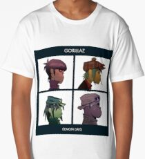 GORILLAZ DEMON DAYS ALBUM ARTWORK (Jamie Hewlett) Long T-Shirt