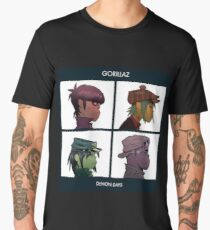 GORILLAZ DEMON DAYS ALBUM ARTWORK (Jamie Hewlett) Men's Premium T-Shirt