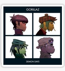 GORILLAZ DEMON DAYS ALBUM ARTWORK (Jamie Hewlett) Sticker