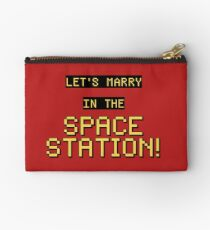 Let's marry in the space station Studio Pouch
