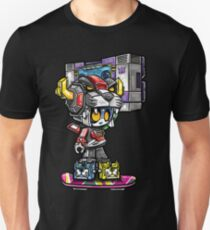 Pandatron with Boombox on Hoverboard T-Shirt