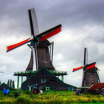 Windmills at Zaanse Schans by tomg