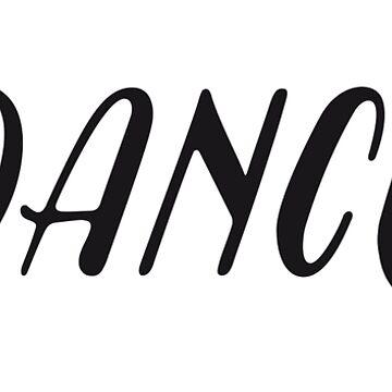 Tanz schwarz von GrybDesigns