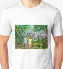 CANADIAN ART CANADIAN LANDSCAPE PAINTINGS MOUNT ROYAL LOOKOUT MONTREAL MOUNTAIN SCENE CAROLE SPANDAU T-Shirt
