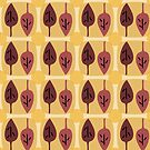 Autumn leaves pattern by Silvia Ganora