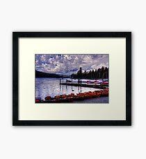 Boats at Bowness Framed Print