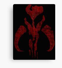Boba Fett Symbol Mandalorian Mythosaur Skull Canvas Print