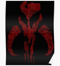 Boba Fett Symbol Mandalorian Mythosaur Skull Poster