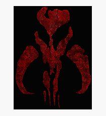 Boba Fett Symbol Mandalorian Mythosaur Skull Photographic Print
