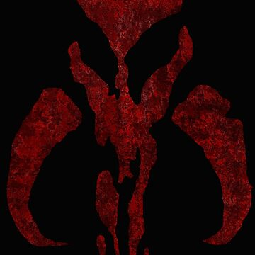 Boba Fett Symbol Mandalorian Mythosaur Skull by DudePal